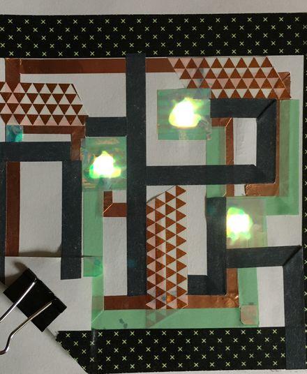 Logo Workshop für alle: Leitendes Klebeband, leuchtende Adventskarte