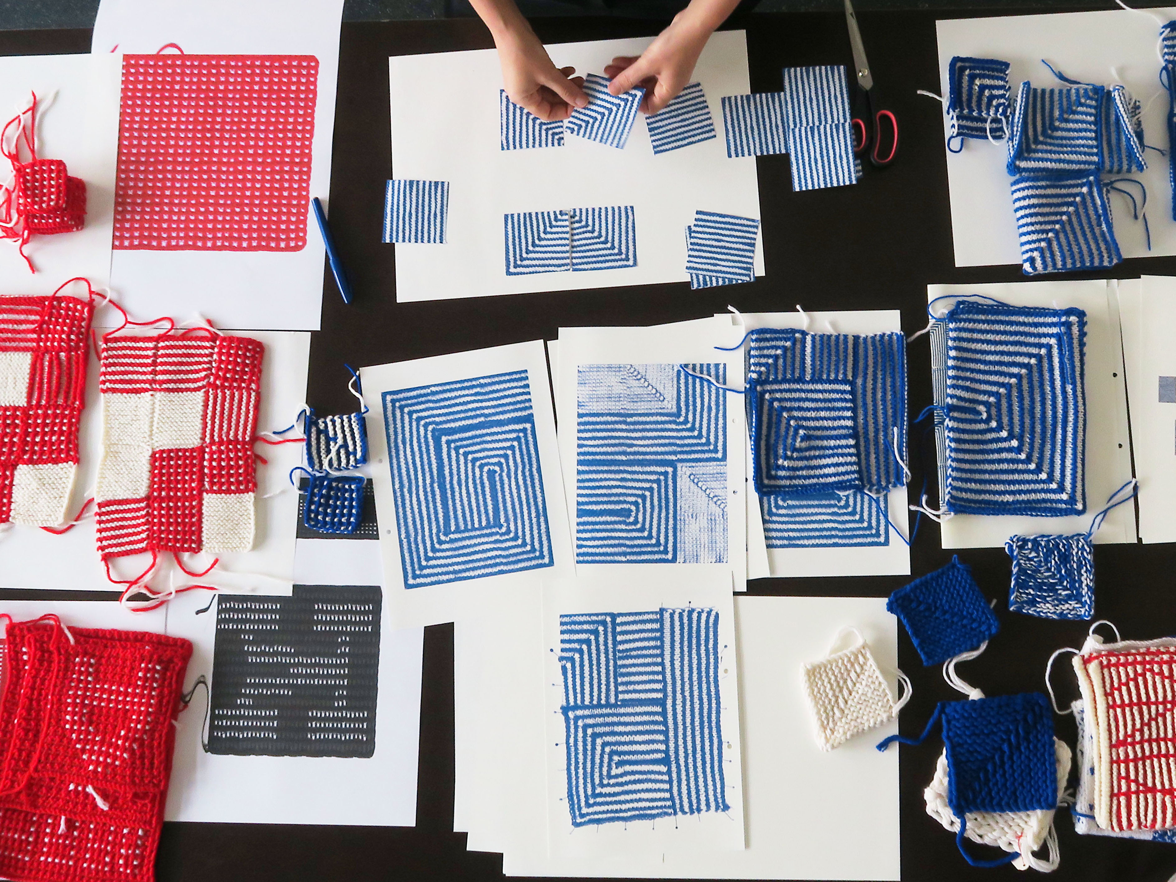 Workshop für alle: Typografisches Stricken mit Patches